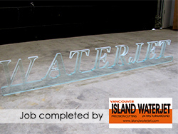 Vancouver island Waterjet applications for Glass Cutting