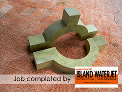 Vancouver Island Waterjet Cutting applications for brass cutting