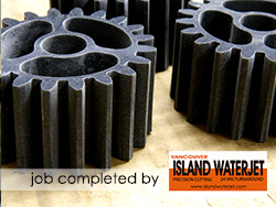 Vancouver Island Waterjet applications delrin plastic polymer cutting