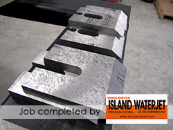 Vancouver island Waterjet Cutting applications for hardened steel