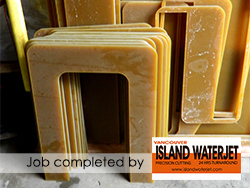Vancouver island Waterjet Applications for Laminated Fiberglass cutting