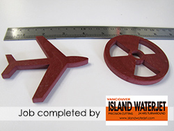 Vancouver Island Waterjet Applications for laminated phenolic cutting