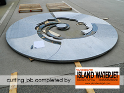 Vancouver island Waterjet applications for marble cutting