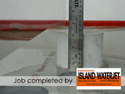 Vancouver Island Waterjet applications for Aluminum Cutting