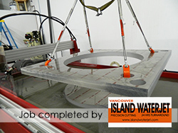 Vancouver Island Waterjet Cutting applications for Aluminum Cutting