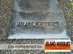 Vancouver Island Waterjet applications for rubber cutting
