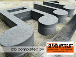 Vancouver Island Waterjet applications for stone cutting